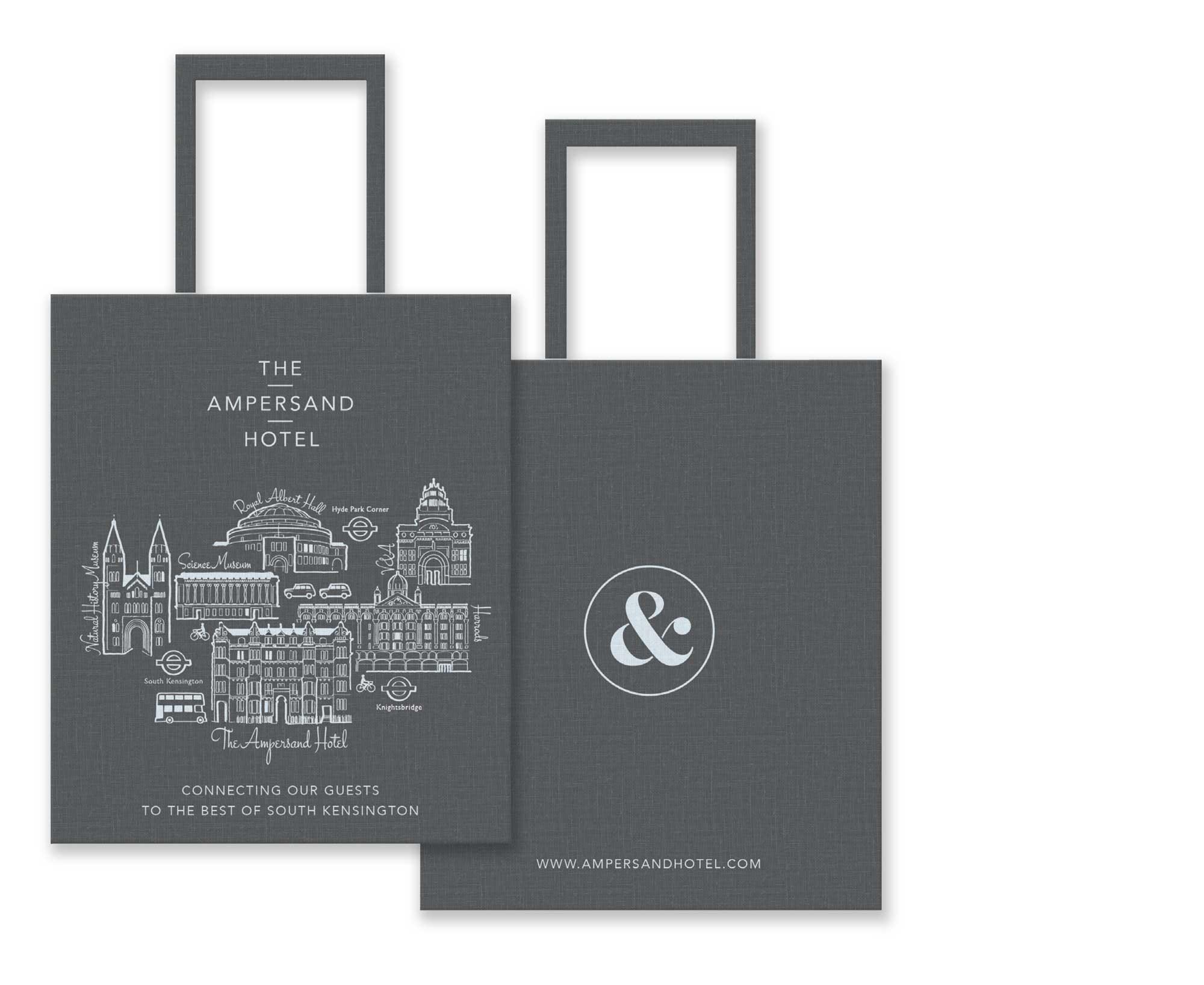 Ampersand Hotel Tote Bag design