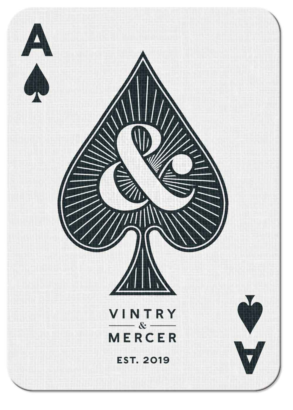 Vintry & Mercer playing card — Ace of Spades