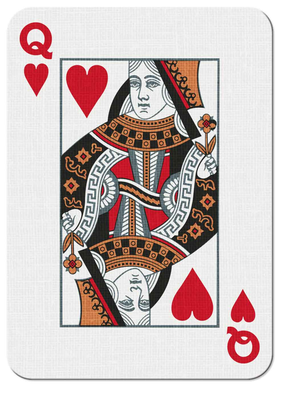 Vintry & Mercer playing card — Queen of Hearts