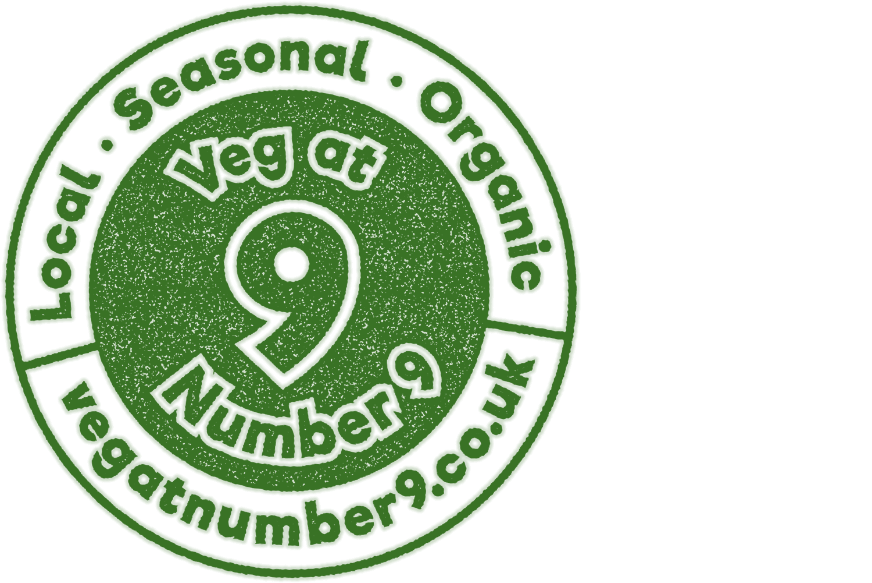 Veg at Number 9 rubber stamp design