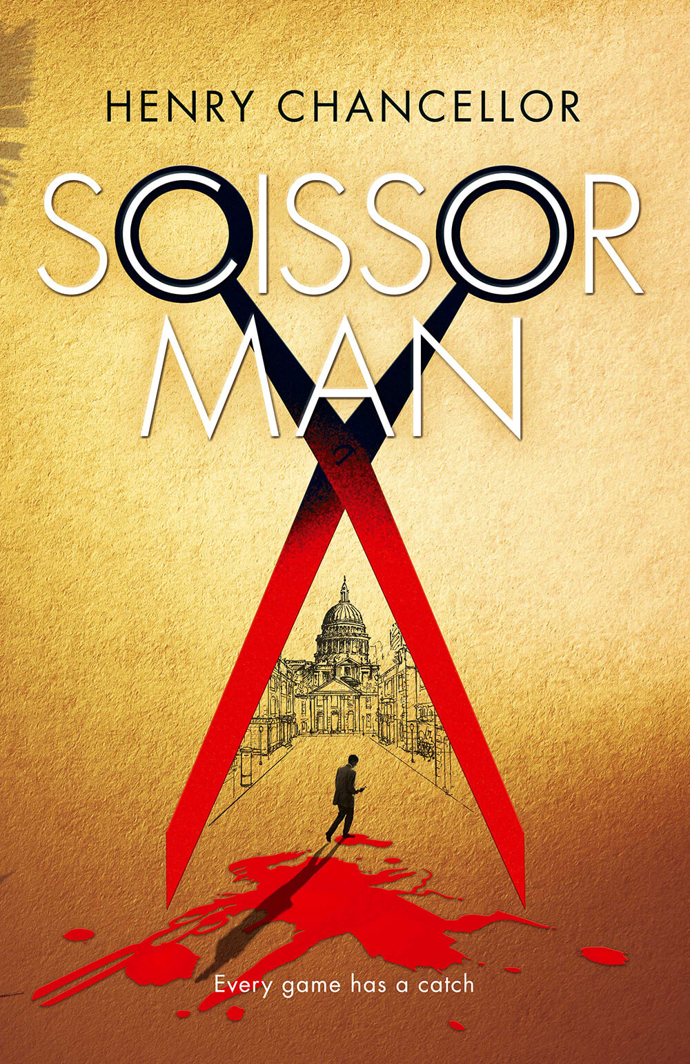 Scissorman bookcover cover design in yellow
